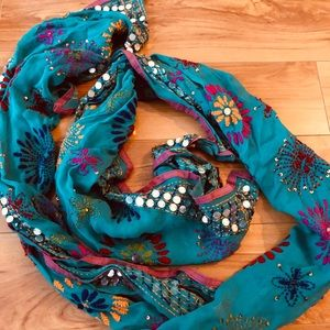 Anthropologie turquoise scarf